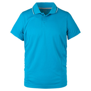 Men`s Rib Collar Tennis Polo Blue Jewel