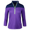 JOFIT Women`s Malbec Mock Tennis Top New Violet