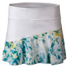 LIJA Women`s Multi Panel Tennis Skort White and Print