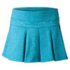 LIJA Women`s Modern Pleated Tennis Skort Heather Topaz