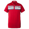 Men`s Petie Tennis Polo Pompeian Red by TRAVISMATHEW