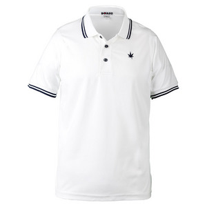 Men`s Tipped Court Tennis Polo White and Navy