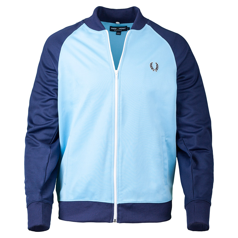 Men's Bomber Track Jacket Alaskan Blue