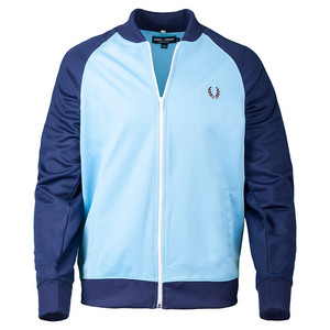 Men`s Bomber Track Jacket Alaskan Blue