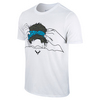 NIKE Men`s Rafa Headband Tennis Tee White