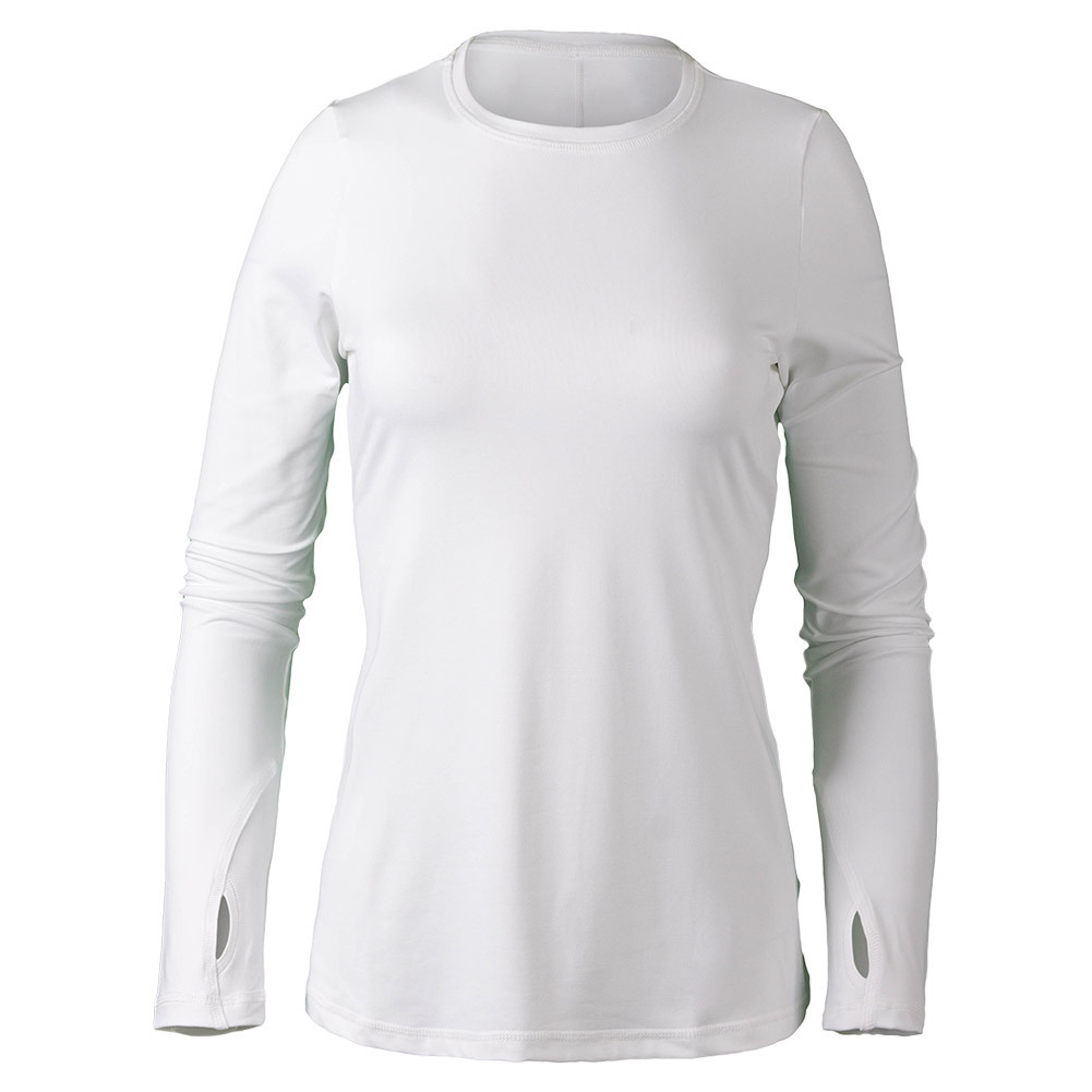 Women's Felisha Long Sleeve Tennis Top White