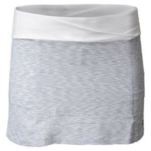 Women`s Striated 13.5 Inch Tennis Skort White