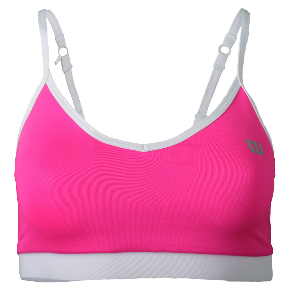 Women's Cami Tennis Bra Pink Glo And White