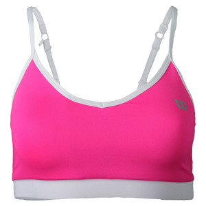 Women`s Cami Tennis Bra Pink Glo and White