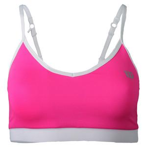 Women`s Cami Tennis Bra Pink Glo and White