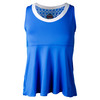 Women`s Kaleidoscope Tennis Tank Teal by BOLLE