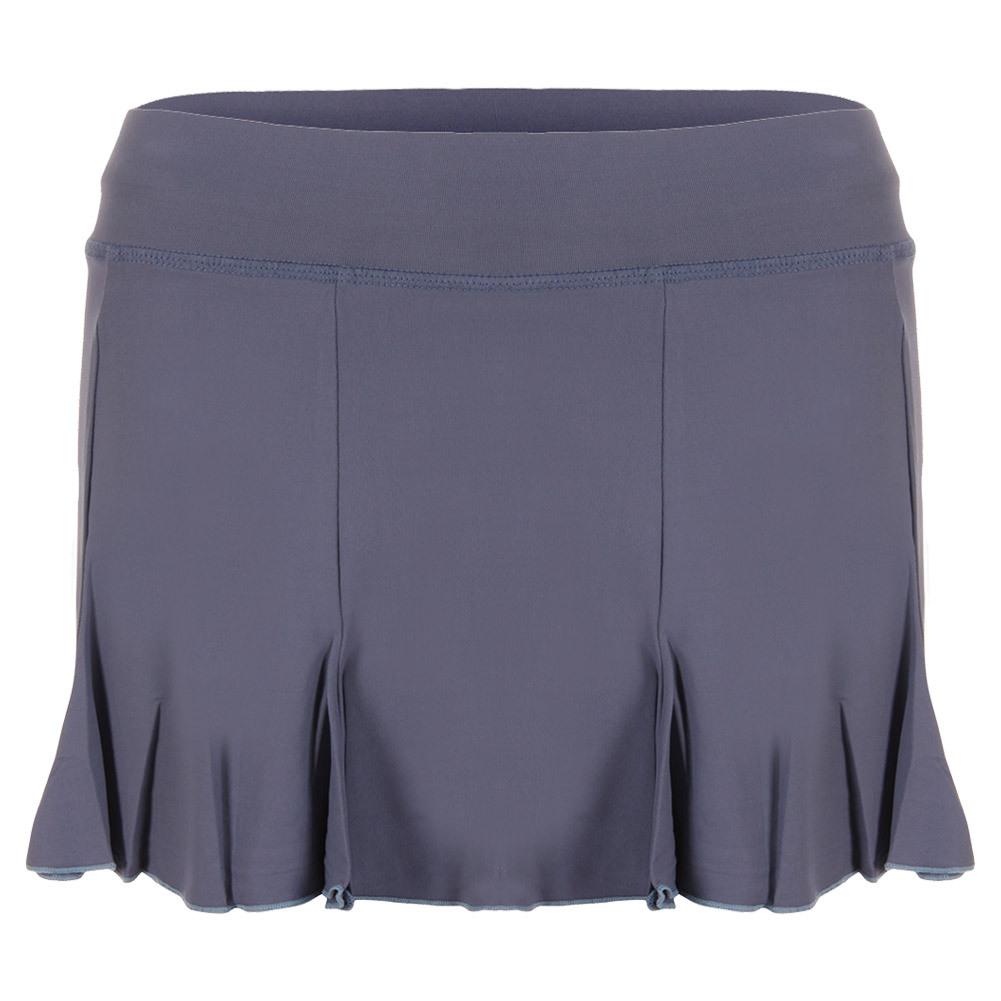 Women's 13 Inch Pleated Tennis Skort Romantic Blue