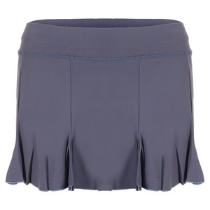 Women`s 13 Inch Pleated Tennis Skort Romantic Blue
