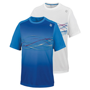 Men`s Soundwave Print Tennis Crew