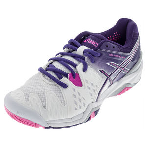 Women`s Gel Resolution 6 Tennis Shoes White and Parchute Purple