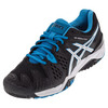 ASICS Men`s Gel-Resolution 6 Tennis Shoes Black and Blue Jewel