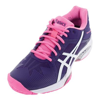 Women`s Gel-Solution Speed 3 Tennis Shoes Parachute Purple and White