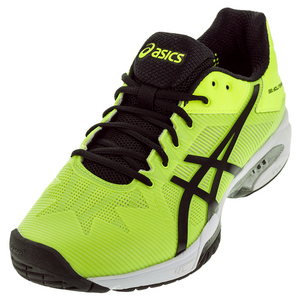 Men`s Gel-Solution Speed 3 Tennis Shoes Safety Yellow and Black