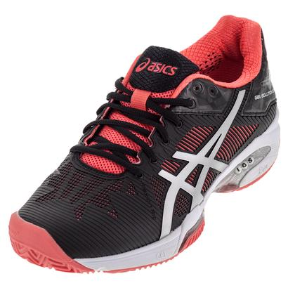 Women`s Gel-Solution Speed 3 Clay Tennis Shoes Black and Diva Pink