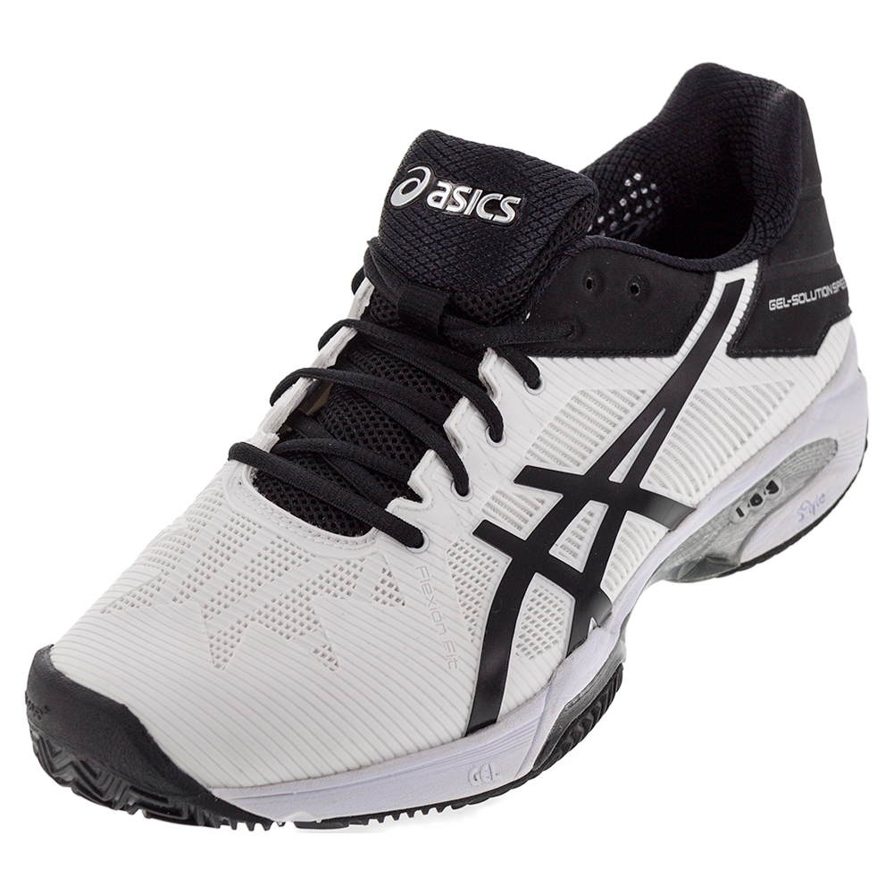 Men's Gel- Solution Speed 3 Clay Tennis Shoes White And Black