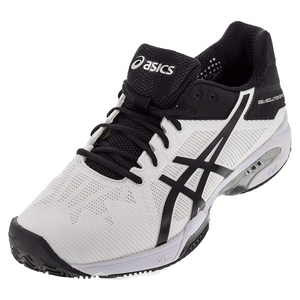 Men`s Gel-Solution Speed 3 Clay Tennis Shoes White and Black