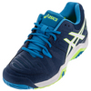 ASICS Men`s Gel-Challenger 10 Tennis Shoes Poseidon and White
