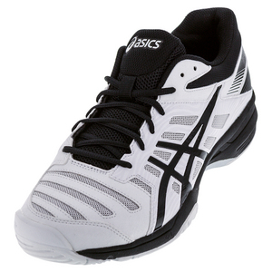 Men`s Gel-Solution Slam 3 Tennis Shoes White and Black