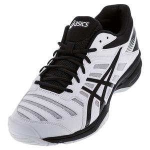 Men`s Gel-Solution Slam 3 Tennis Shoes White and Black