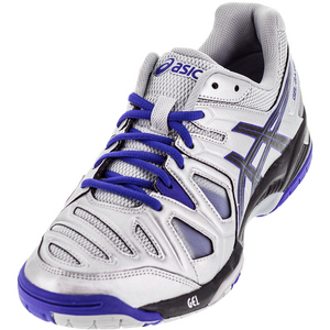 Men`s Gel-Game 5 Tennis Shoes Silver and Black