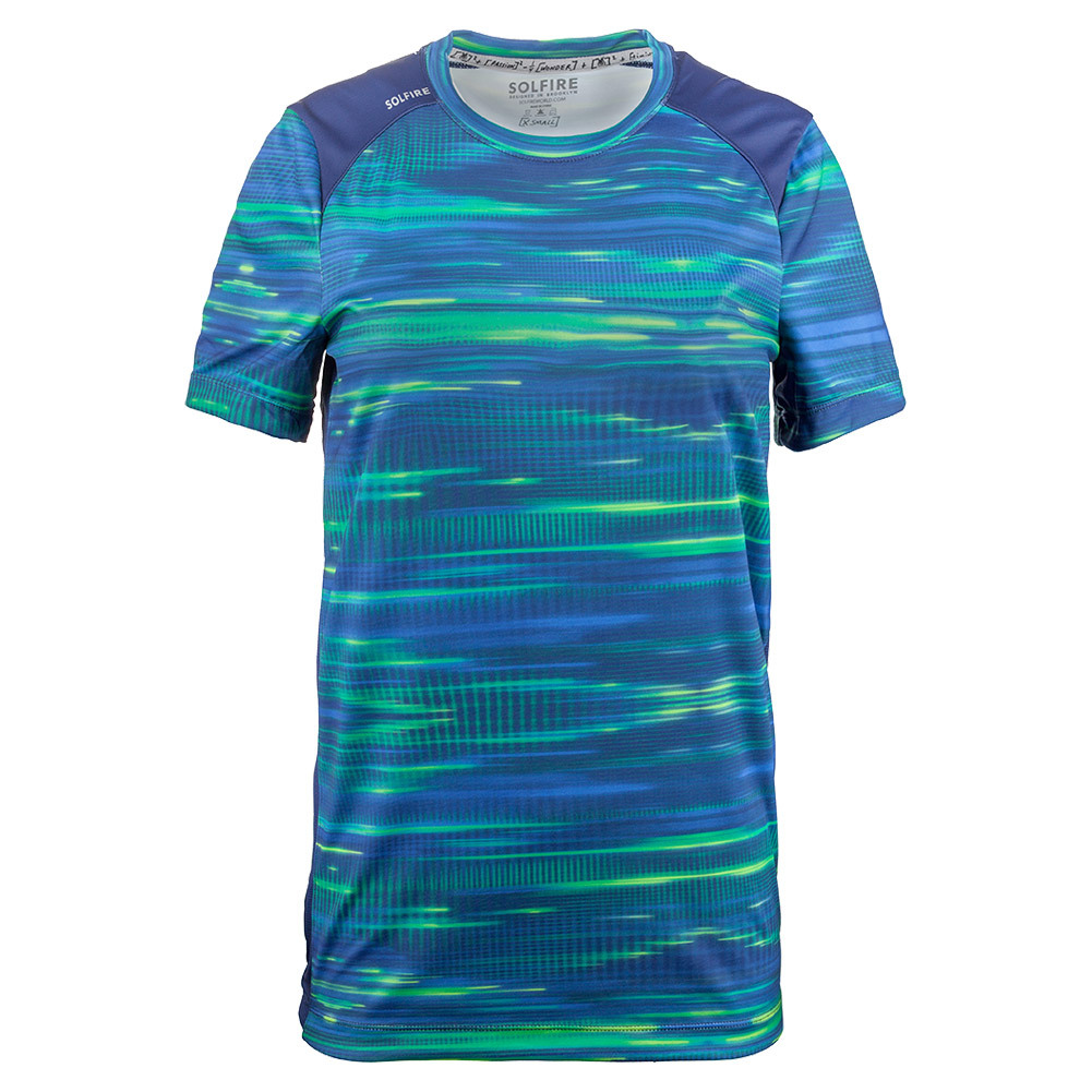 Men's Light Lines Dimension Tennis Crew Blue Depths