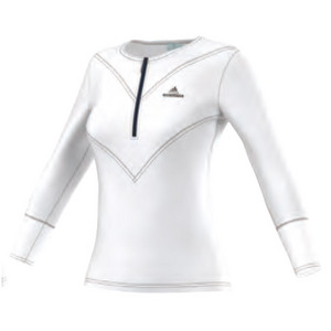 Women`s Stella McCartney Barricade Three-Quarter Sleeve Tennis Tee White