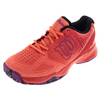 WILSON Women`s Kaos Comp Tennis Shoes Radiant Red and Coral Punch