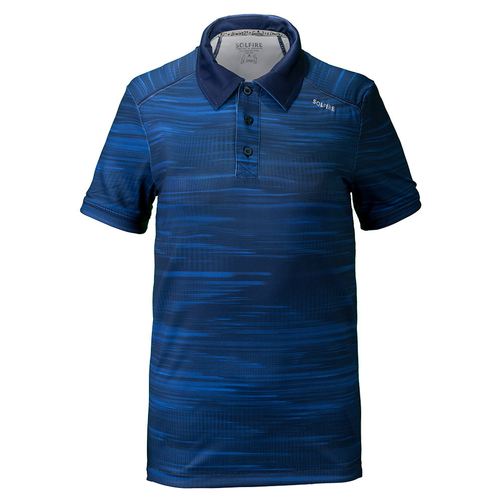 Men's Traces Performance Tennis Polo Turkish Blue