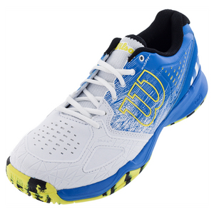 Men`s Kaos Comp Tennis Shoes Bright Blue and White