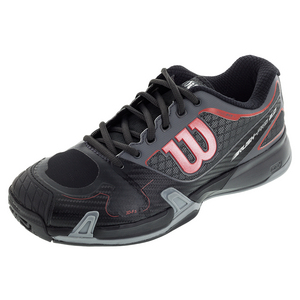 Men`s Rush Pro 2.0 All Court Tennis Shoes Black and Dark Cloud