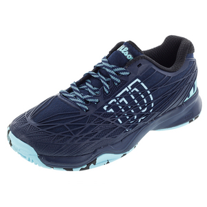 Men`s Kaos All Court Tennis Shoes Navy and Cool Mint