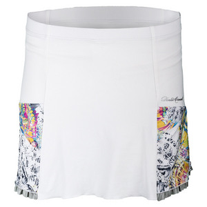 Women`s Pocket Tennis Skort White and Edge Print