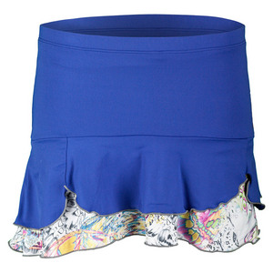 DENISE CRONWALL WOMENS LUNA 13.5 INCH TNS SKORT BLUE