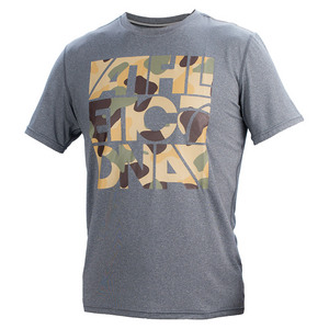 ATHLETIC DNA BOYS GRAPHIC TEE CAMO DK HEATHER GRAY