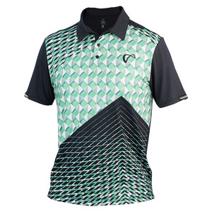 Boys` Match Tennis Polo Pyramid Green