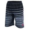 Men`s Woven Tennis Short Hombre Stripe Black by ATHLETIC DNA