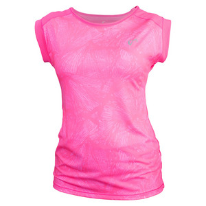 Girls` Empower Cap Sleeve Top Butterfly Pink