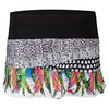 LUCKY IN LOVE Women`s Animal Intuition Scallop Tennis Skort Print