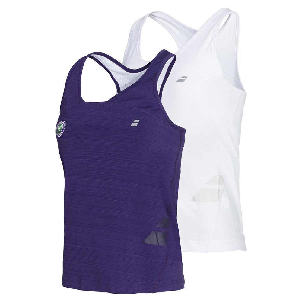 Girls ` Wimbledon Racerback Tennis Tank