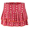 LUCKY IN LOVE Women`s Batik Chic Pleated Tier Tennis Skort Hibicus Print