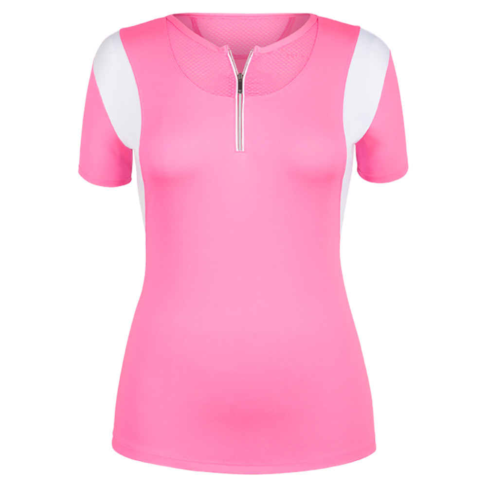 Women's Trina Cap Sleeve Tennis Top Siren Pink