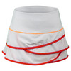 Girls` Scallop Tennis Skort White and Hibiscus Linen by LUCKY IN LOVE