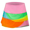 LUCKY IN LOVE Girls` Rainbow Mesh Scallop Tennis Skort Multi