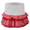 LUCKY IN LOVE Girls` Ikat Ruffle Tier Tennis Skort Hibiscus Linen