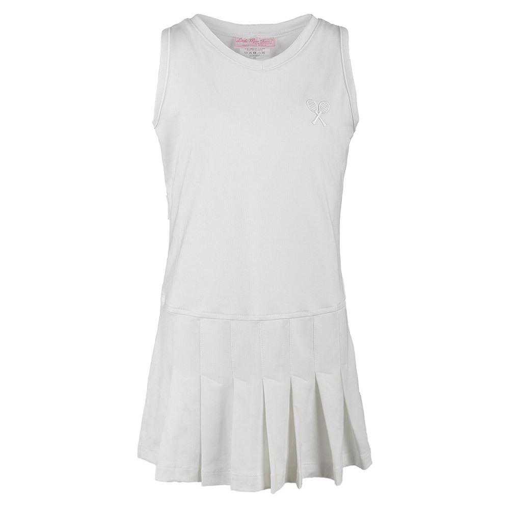 Girls ` Pleated Tennis Dress White